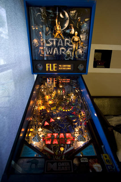 FLECOM's Star Wars Pinball machine by Data East